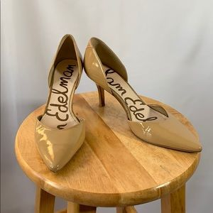 Sam Edelman Cream Tan Leather Heels